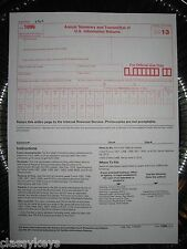 2013 IRS Tax Form 1096 Annual Summary and Transmittal (for 1099's to IRS)