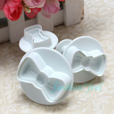 3pcs Kitty Bow Fondant Cake Decorating Tools Cookie Plunger Cutters Mold Pastry