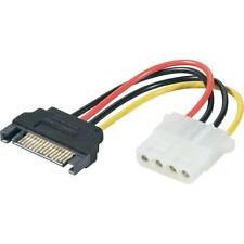 4 pines IDE MOLEX 15 Pin SATA HDD Unidad de disco duro Adaptador corriente cable