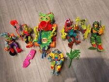 6x Toxic Crusaders Action Figures Vintage Retro - Toxie Junkyard Major Disaster