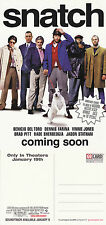 SNATCH THE MOVIE UNUSED ADVERTISING COLOUR POSTCARD