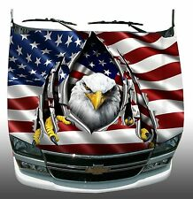 American flag eagle rip Hood Wrap Wraps Sticker Vinyl Decal Graphic
