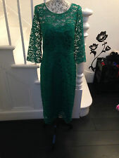 Marks & Spencers Green Lace Pencil dress
