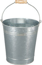 GALVANISED HEAVY DUTY STEEL BUCKET 18 LITRE CAPACITY COAL FIRE GARDEN WOOD GRIP