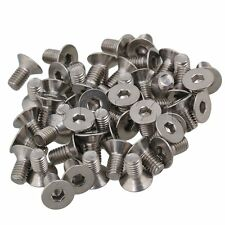 50pcs Silver Stainless Steel Flat Countersunk Head Hex Socket Screw M6 x 12mm