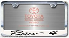 New Toyota Rav4 Chrome License Plate Frame with Engraved Script Lettering