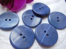 lot 6  boutons camaieu bleu en corozo? travaillé vintage diamètre: 2,6 cm  Bb