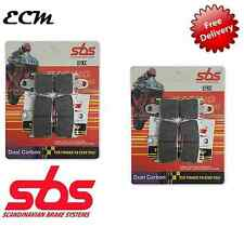 YAMAHA YZF R1 1000 Radial Caliper 2008 SBS FRONT BRAKE PADS Dual Carbon 839DC