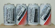 Vintage 1995 Cleveland Indians Highlights Pepsi Cans - Set of 4