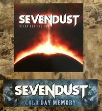 SEVENDUST Black Out The Sun | Cold Day Memory Stickers +FREE Rock/Metal Stickers