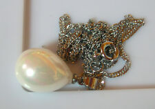PENDENTIF PERLE BLANC nacré 16x12mm... SOUTH SEA SHELL PEARLS