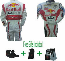 Go Kart Race Suit CIK/FIA Level 2 Red-bull White (Free gifts Included)