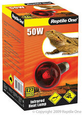 Reptile One R1-46556 Heat Lamp Infrared Medi 50W E27 Screw Fitting for Reptiles