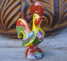 Mini Rooster Mexican Talavera Ceramic Folk Art Dogs and Pets Home Decor