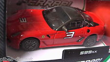 B BURAGO 1/43 599 XX FERRARI RACE & PLAY RED COLOR NEW RARE IN HAND