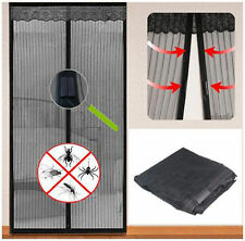MAGIC DOOR CURTAIN MESH MAGNETIC FASTENING HANDS FREE SCREEN FOR INSECT FLY BUG