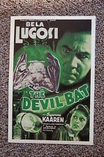 THE DEVIL BAT Lobby Card Movie Poster BELA LUGOSI