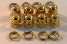VW VOLKSWAGEN GOLF MK1 MK2 1.6 1.8 8v 24ct GOLD PLATED ROCKER COVER NUTS 24K