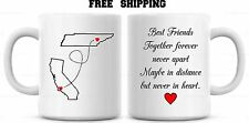 Custom Best Friend Mug, Together forever never apart  BFF Gift