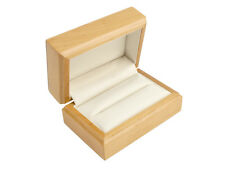 Luxury Wooden Double Wedding Ring Box, Polished Maple Colour