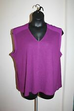 Gap Women's Purple Chiffon Shoulder Sleeveless V-Neck Top Size XXL