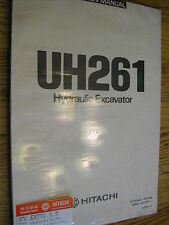 Hitachi UH261 OPERATION MANUAL HYD. EXCAVATOR MAINTENANCE OPERATOR GUIDE EM771