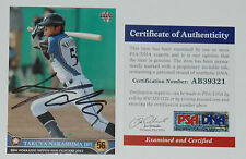 TAKUYA NAKASHIMA SIGNED AUTO'D 2013 BBM CARD PSA/DNA COA NIPPON HAM FIGHTERS
