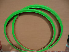 1 paire de 700x28c (28-622) coloré fixie course vélo / cycle pneus, green new