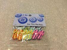Dress It Up Buttons: See Thru Flip Flops  #4875 Apx 10 Pcs