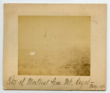 Vintage Cabinet Card City Of Montreal Canada From Mount Royal May 1892