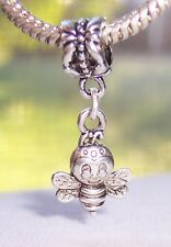 Bumblebee Bee Bug Double Sided Dangle Bead for Silver European Charm Bracelets