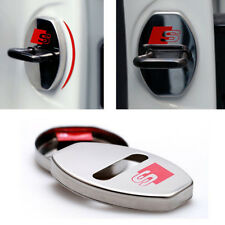 Pair Alloy S Line Sline Door Lock Cover Sticker Badge Self ADHESIVE For Audi s67