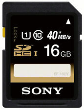 SONY SDHC UHS-I 16GB Class 10 Model SF-16UY 40MB/s SD Memory Card