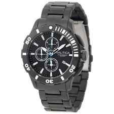 Nautica Men's N23536G Bfd101 Black Ion Plated Stainless Steel Chronograph Watch