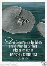 Deutscher Kulturfilm XL Reklame 1942 Kultur Deutschland Film UfA Bavaria Wien Ad