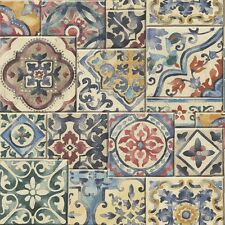 Marrakech / Moroccan Tile Design Wallpaper (Flat paper, paste the wall)