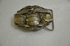 I'M PROUD TO BE AN AMERICAN TRUCKER Bergamot Brass Works Belt Buckle USA 425