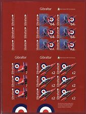 Gibraltar #1442-46, M/S, Imperf Proofs, Royal Air Force, Red Arrow Planes