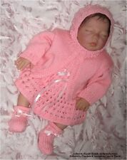 "Machine Knit Baby Pattern: ""Molly"", Prem/ doll Outfit MK318 by Frandor Formats"