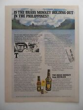 1975 Print Ad Heublein Brass Monkey Cocktail ~ Holding Out in the Philippines
