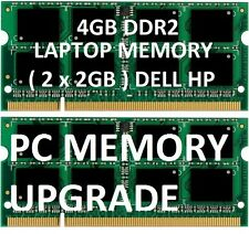 4gb = 2gb X 2 ddr2 LAPTOP MEMORY RAM sodimm DELL Notebook pc6400 pc2-6400 800Mhz