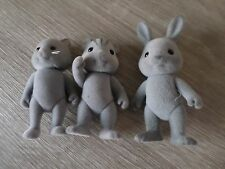 SYLVANIAN FAMILIES GREY FAMILY GIRLS BOYS FUN TOYS X3