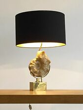 1970 WILLY DARO LAMPE SCULPTURE ART-DECO MODERNISTE SHABBY-CHIC AMONITE
