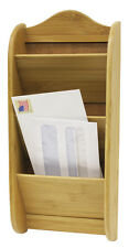 Home Basics NEW Bamboo Letter Storage Wall Organizer Rack - LR01012