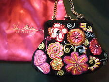 VERA BRADLEY 25th Anniversary Beaded Evening Bag MOD FLORAL PINK New with Tags!