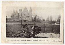 CPA 80 - TILLOLOY (Somme) - 136. Exhumation d'un obus allemand non éclaté devant