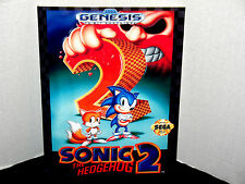Sega Genesis SONIC THE HEDGEHOG 2 Box Cover  Photo Wall Poster Decor