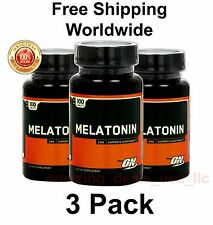 OPTIMUM NUTRITION MELATONIN STRESS RELIEF & SLEEP AID 3 mg 100 Tablets (3 Pack)