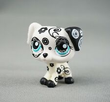 LPS Littlest Pet Shop #1613 Dalmation Dog Black White Flower Patterns Girl Toys