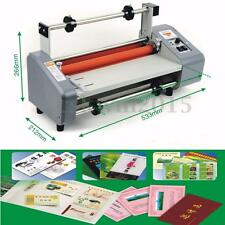 "220V 50Hz 13"" Four Rollers Hot and Cold Roll Laminator Laminating Machine"